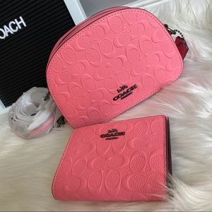NEW COACH MINI XBODY BAG AND WALLET AUTHENTIC